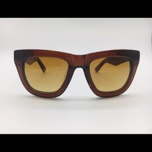 BCBG Max Azria Tasi Brown thick frame sunglasses